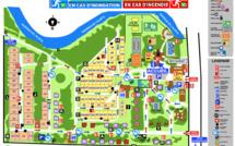La piantina del campeggio
