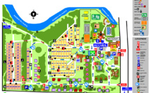 La piantina del campeggio e della residenza